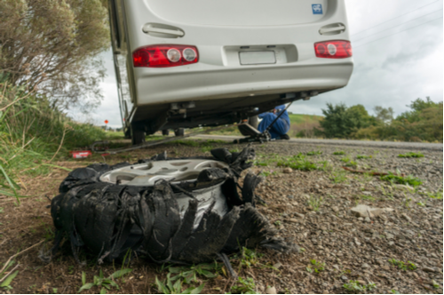 Motorhome tire blowout flat